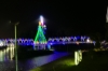 Christmas lights on the pedestrian bridges in Tena EC