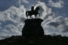 The Copper Horse statue of King George III (As an emperor in the Roman tradition) by Richard Westmacott in 1831, Windsor Great Park GB