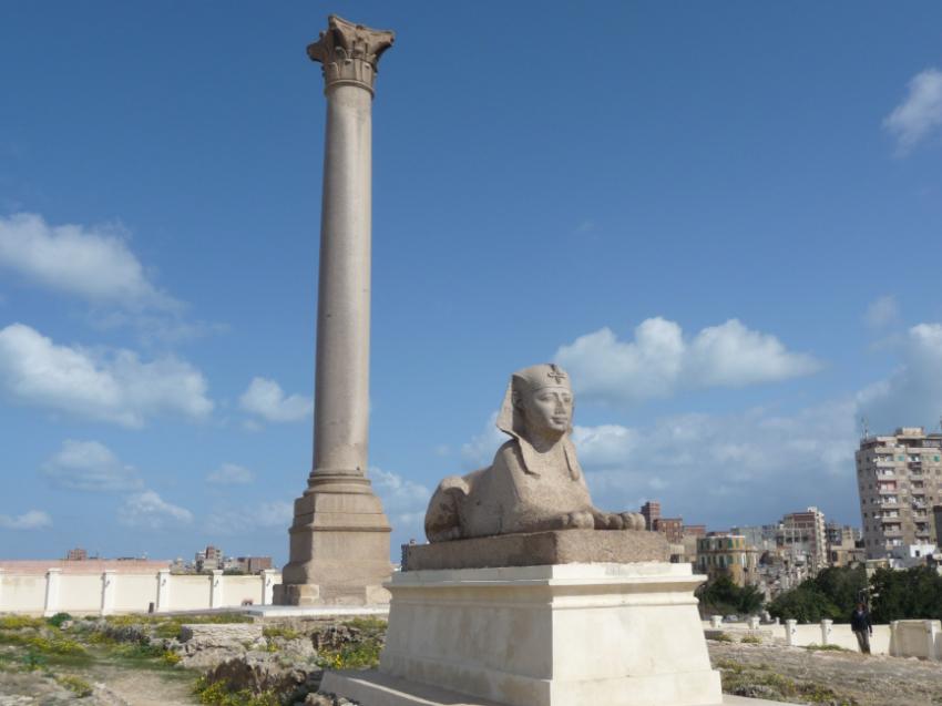 Pompey's Pillar and sphinx, Alexandria