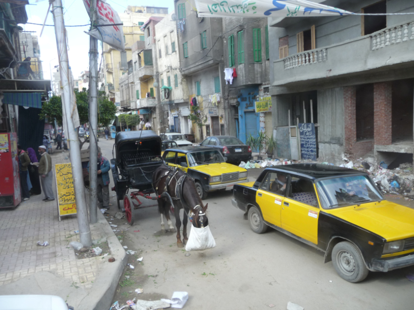 Streets and traffic in Alexandria