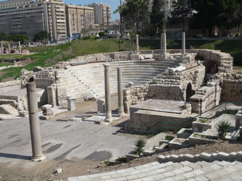 Roman Greco Theater in Alexandria