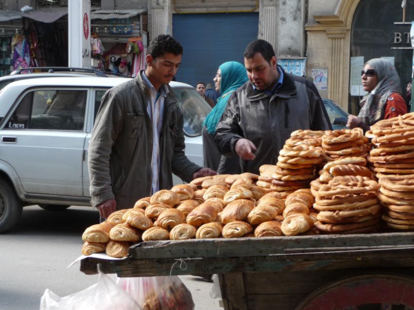 Bread seller in Alexandria
