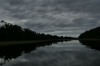 Dark clouds, in the canals. Anavilhanas Archipelago on Rio Negro BR