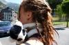 Pepe & Elisse in Ordino, Andorra.  That lemur gets around!