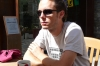 Hayden at breakfast in Ordino, Andorra