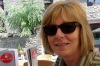 Thea at breakfast in Ordino, Andorra