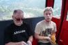 Bruce & Evan in the cable car at La Massana, Andorra