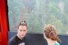 Hayden & Elisse in the cable car at La Massana, Andorra