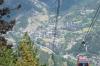 Cable car at La Massana, Andorra.  Ordino in the background.