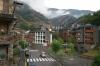 Ordino, Andorra and a storm brewing.