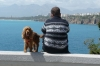Man and his dog, Antalya
