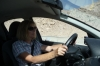 Thea driving in Jordan