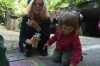 Creating our chalk masterpiece, Morel party in Arnex-sur-Orbe CH