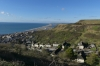 Looking down to Fortuneswell and Chesil Beach, Isle of Portland UK