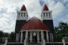 The Free Church of Tonga Ma'ufanga, Nuku'alofa, Tonga.  We thought the red spires were minarets.