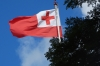 Tongan flag above the Prime Minister's office in Nuku'alofa, Tonga