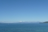 snow capped Tongariro mountains from Taupo NZ