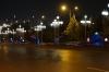 Ashgabat TM, near the Sofitel at night