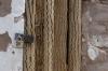 Cactus wood door of the Saint Lucas Tower in Toconao (17th Century), Atacama Desert CL