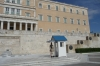 Greek soldiers guarding the Parliament building in Syntagma Square, Athens