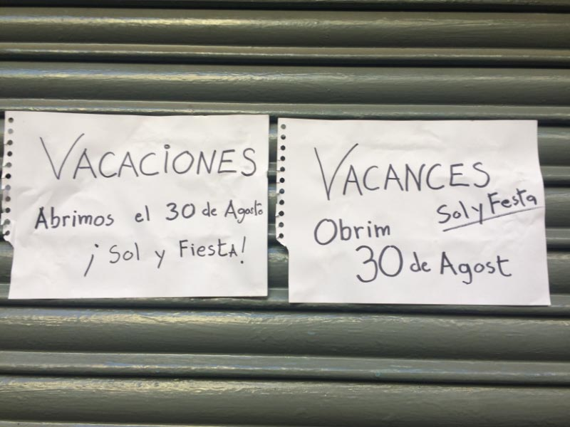 Closed for Vacations