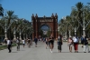 Arc de Triomf, built as main access gate for 1888 World Fair