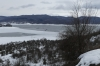 Mavrovo Lake, frozen over. MK