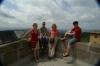 Elisse, Hayden. Thea & Evan at Tibidabo, looking toward Montserrat, Barcelona ES