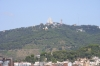 Tibidabo from H&Elisse roof in Gracia, Barcelona ES