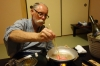 Bruce with Shabu Shabu, first Japanese meal at the Kurodaya Ryokan, Beppu, Japan