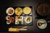 First Japanese breakfast at the Kurodaya Ryokan, Beppu, Japan