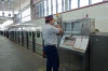 Announcing the arrival of the Bullet Train (Shinkansen) at Kumamoto station