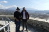 Bruce with Jurgen who filmed our comments on Berat, at Berat Fortress AL