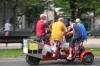 fun on a x-bicycle on Unter den Linden, Berlin DE