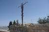 Mount Nebo where Moses died and is buried - cross