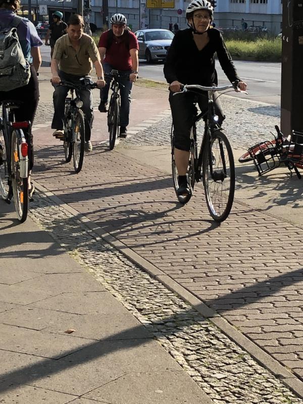 Bicycling, a major form of transport in Berlin DE