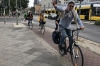 Bicycling, a major form of transport in Berlin DE