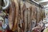 Horse meat sausage made to order, Osh Market, Bishkek