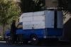 Blue Trucks in Yazd