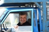 Blue truck in Naqsh-e Jahan Imam Square