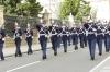 Army marching outside Palacio de Nariño, Bogotá CO