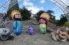 Nativity scene outside the church at Monserrate, Bogotá CO