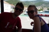 On the little train to Zlatni Rat beach