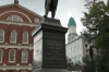 Statue of Samual Adams & Faneuil Hall 'Cradle of Liberty'. Boston Freedom Walk