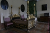 Baroque style bed late C17 and Habans stove (Swiss), Red Stone Castle near Častá SK