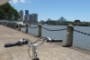 Brisbane on a Bike - Story Bridge & city skyline QLD