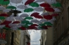 Umbrellas celebrate an Italian festival in Brno CZ