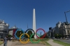 Inspiration Tangible (Olympic Rings), near the Obelisco, Buenos Aires AR