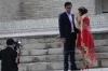 Traditional style bride & groom in Lyabi-Hauz Plaza