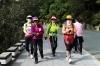 Korean women love to walk and talk, Taejongdae Cliffs, Busan, South Korea